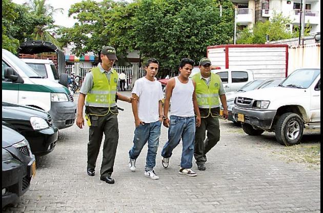 Los atracadores del taxista fueron identificados como: Dairo Fuentes y José Verg