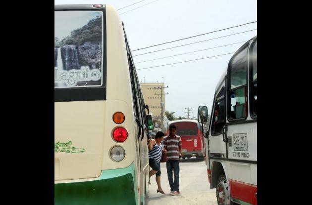 Atracos de busetas en Cartagena.
