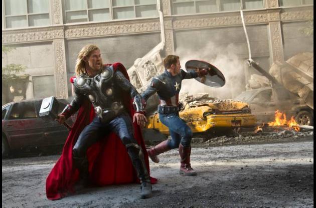 Escena de la película The Avengers.
