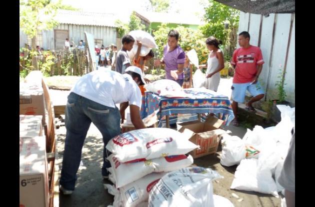 Las ayudas humanitarias que dejaron de entregarse están almacenadas y serán llev