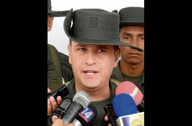 Comandante (e) Policía Sucre, Teniente Coronel Meyer Ibarra Rodríguez.