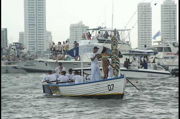 Desfile de Balleneras en Bahía de Cartagena