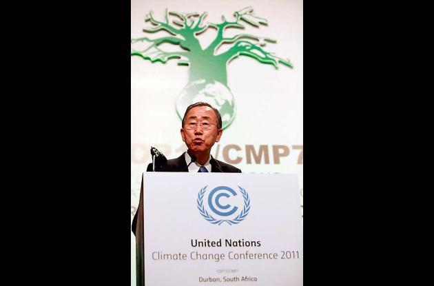Ban Ki-moon, secretario general de al ONU, en al conferencia de Durban.