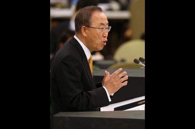 Ban Ki-moon, secretario general de la ONU.