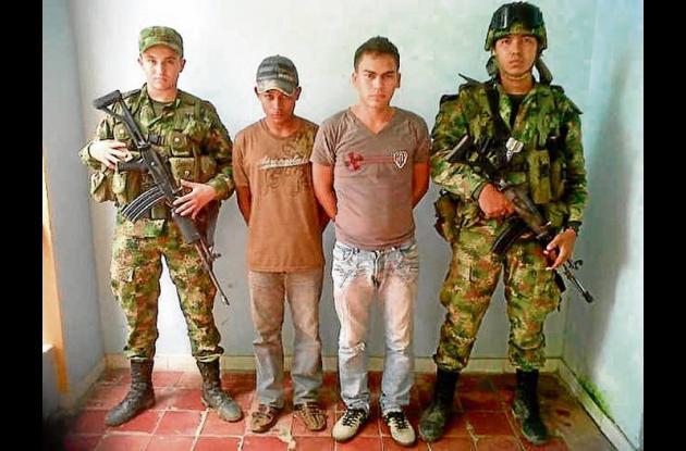 Capturados miembros bacrim.