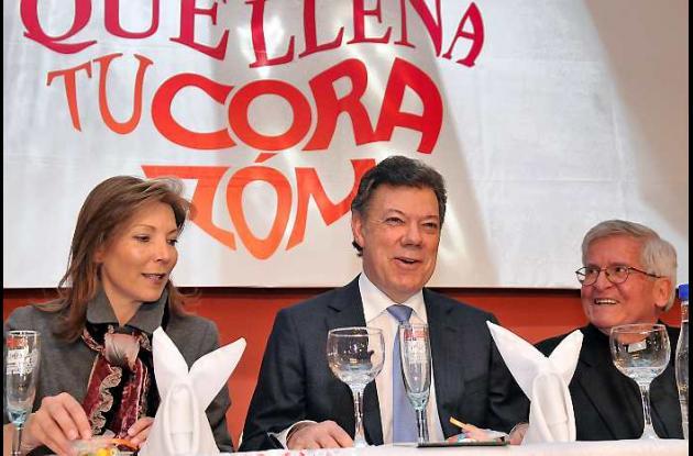 Al Banquete del Millón asistió el presidente Santos y su esposa.