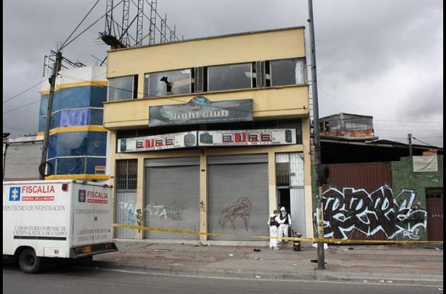 Bar Night Club, al sur de Bogotá.