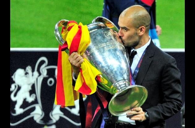 Guardiola, otro trofeo para la historia con el Barcelona.