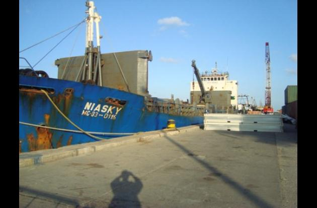 Hallan cocaína en un buque mercante en San Andrés Islas.