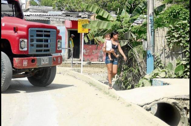 Barrio La Trinidad, de Sincelejo solicita construcción de andenes.