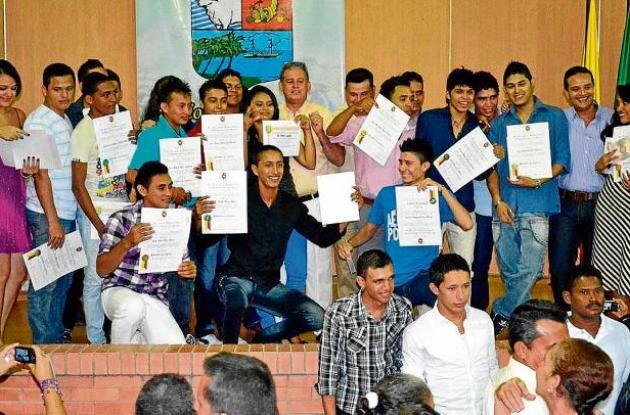 Graduación en  la escuela Bellas Artes de Sucre.