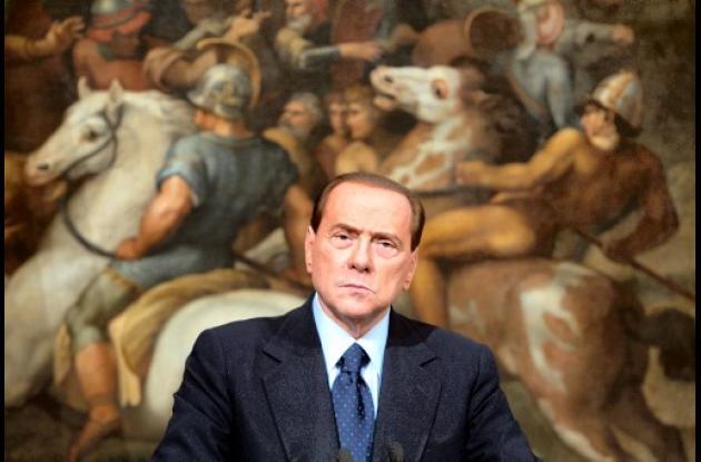 Silvio Berlusconi. primer ministro italiano.