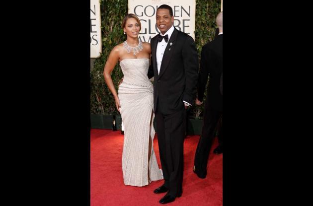 La cantante Beyonce junto a su esposo, el rapero Jay -Z