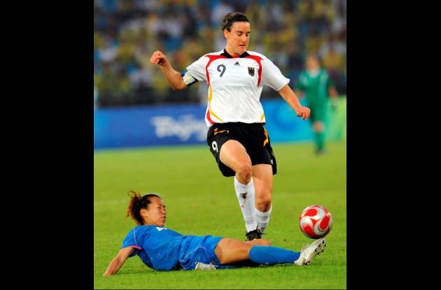 Birgit Prinz, durante años ha sido la gran rival de la brasileña Marta