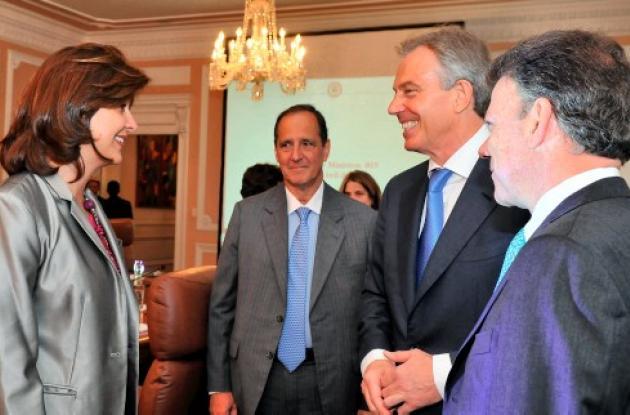 Tony Blair, de visita en Colombia.