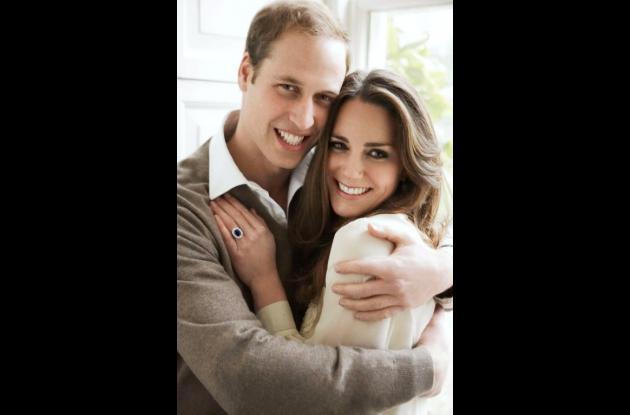 El príncipe Guillermo y su prometida, Catherine Middleton.