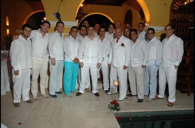De izquierda a derecha arriba; Dustin Lozano, Labib Palis,Felipe Holman, Labib P