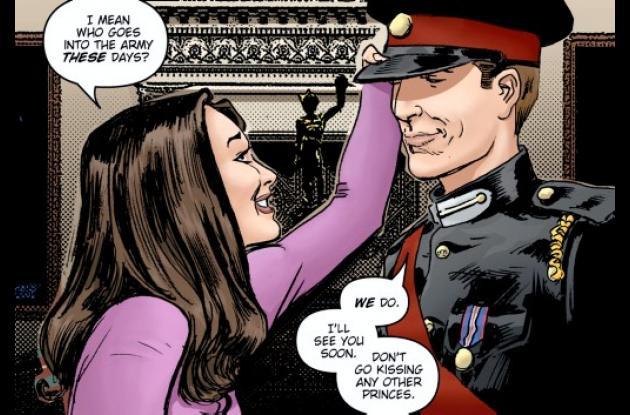 Caricatura del principe Guillermo y su prometida Kate Midletton