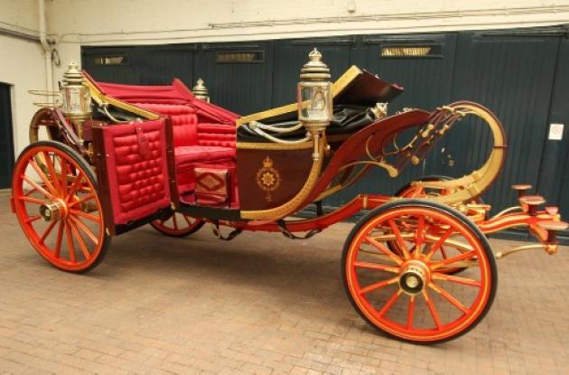 Carroza usada por la princesa Diana y el príncipe Carlos el día de su boda.