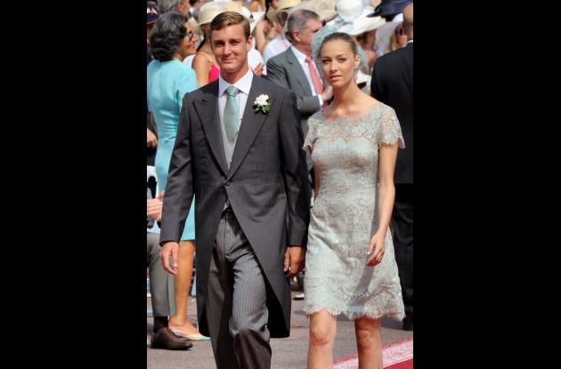 El príncipe Pierre Casiraghi y su novia, la condesa Beatrice Borromeo.