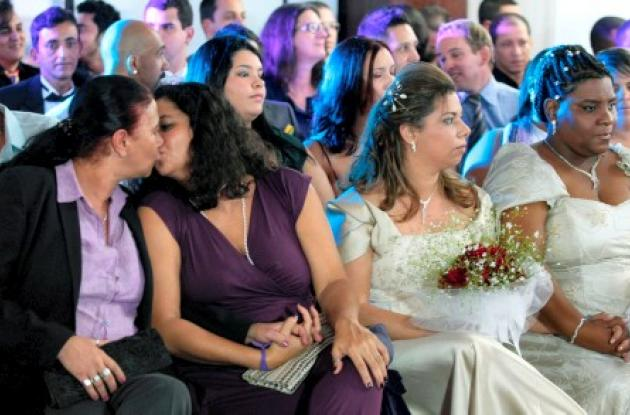 Brasil rompe récord en matrimonios homosexuales.