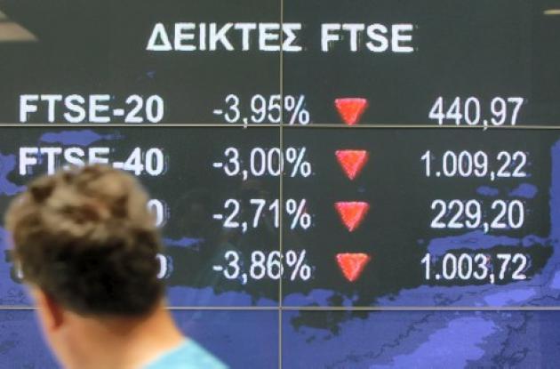 Se desploma la bolsa de valores de Grecia.