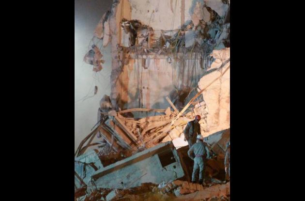 Derrumbe de edificios en Rio de Janeiro.