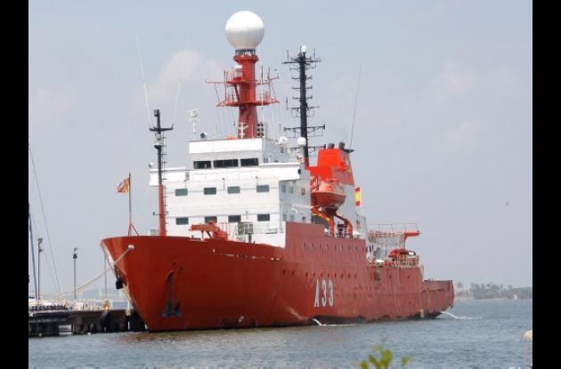 El buque español de investigaciones oceanográficas Hespérides