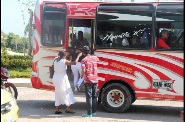 Alza de buses y busetas en Cartagena.