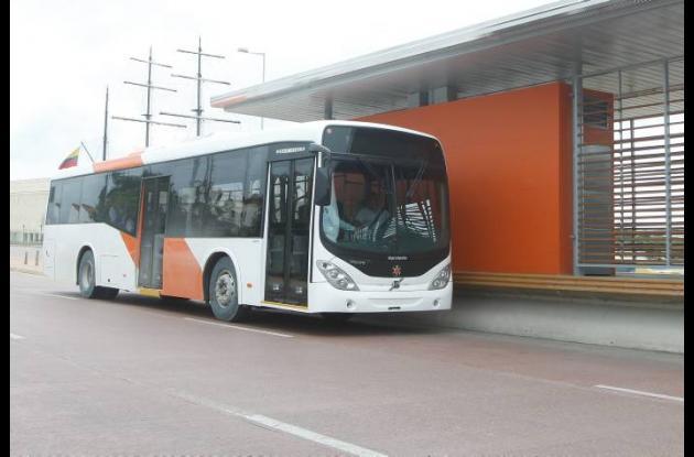 Buses de Transcaribe en Cartagena