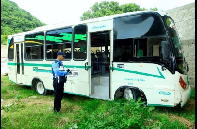 Inmovilización de busetas en Cartagena