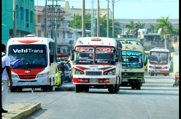Busetas en Cartagena