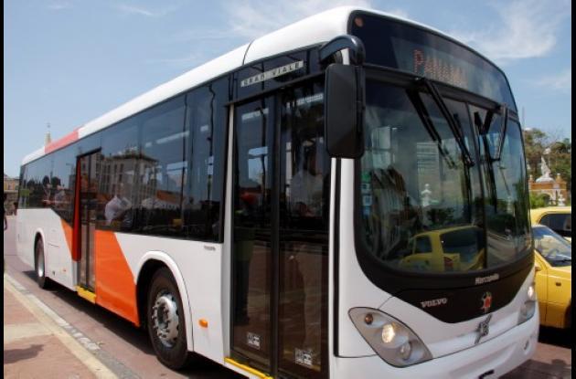 Bus modelo de Transcaribe.