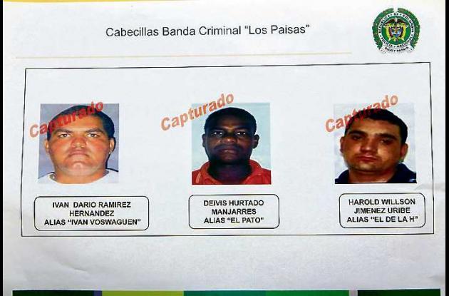 A los tres cabecillas de la banda criminal les fueron imputados los delitos de h