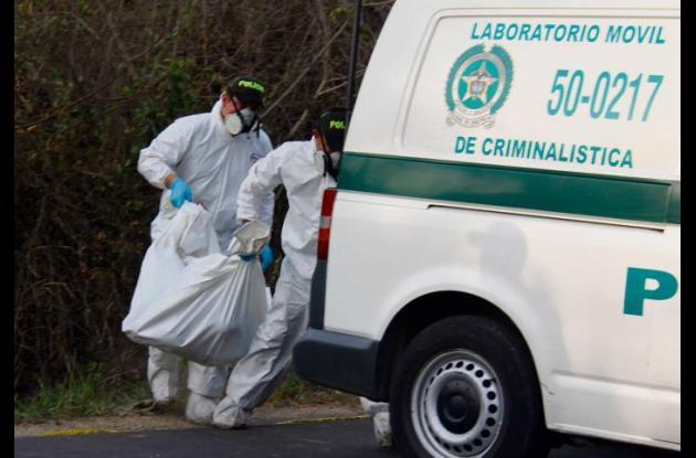 Los cuerpos hallados fueron trasladados al Instituto de Medicina Legal, en Barra