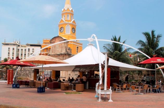 El novedoso café está ubicado en la Plaza de la Paz.