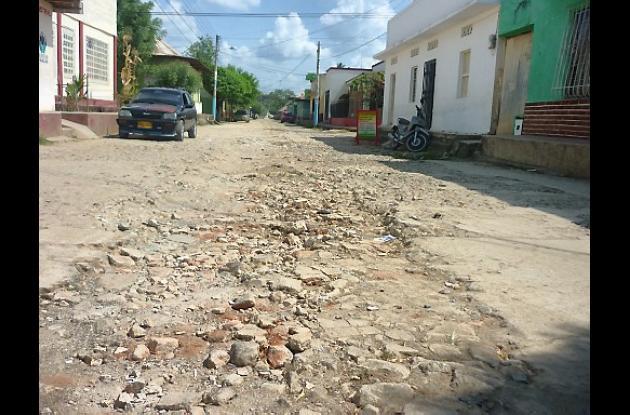Calle 25 de El Carmen de Bolívar.