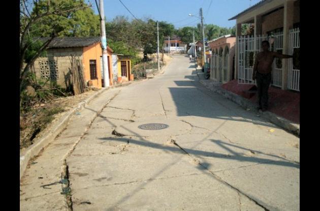 calle Los Caracoles de Turbana, Bolívar.