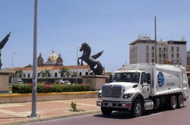 camion recolector de basura de pacaribe cartagena