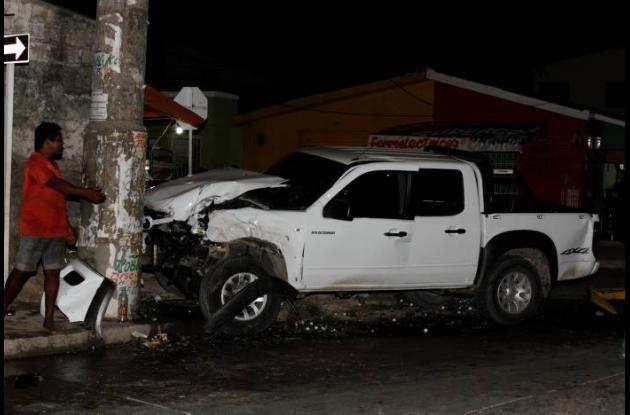 La noche del lunes se presentó un accidente en Zaragocilla donde resultó herido