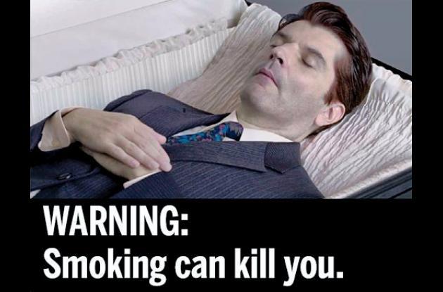 Campaña antitabaco con imágenes descarnadas.