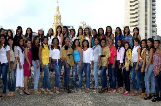 Listado oficial de candidatas al Reinado de la Independencia 2012.