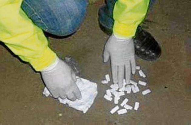 32 dosis de base de coca decomisadas