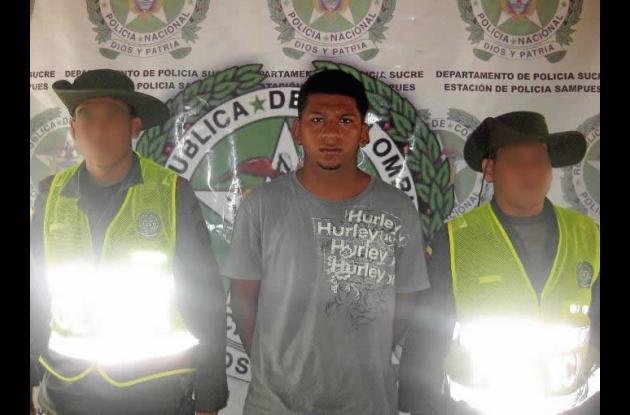 Diego Armando Laza Galeano, capturado.