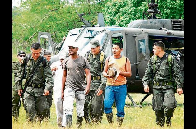 Los capturados responderán por los delitos de extracción ilegal de yacimientos m
