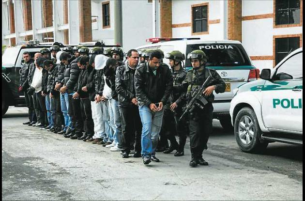 Los catorce sujetos capturados fueron trasladados a la cárcel La Picota, en Bogo
