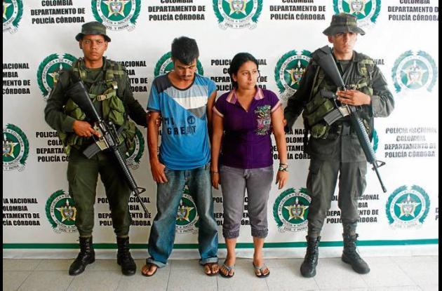 Alias 'Lucho' y alias la 'fea' capturados en Planeta Rica.