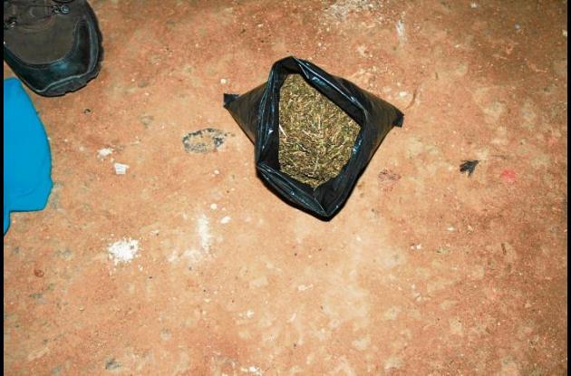 Marihuana decomisada por las autoridades en Cereté, Córdoba