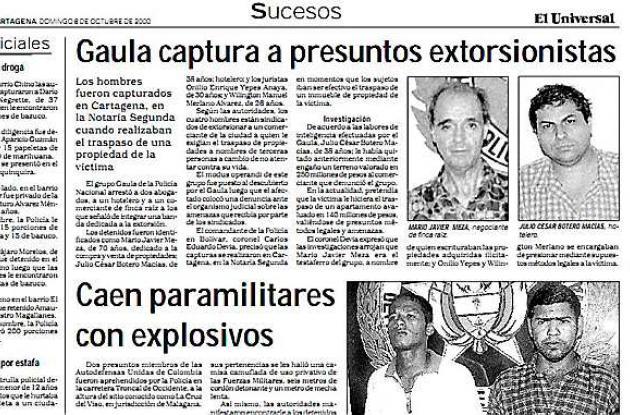 extorsionistas cartagena condena