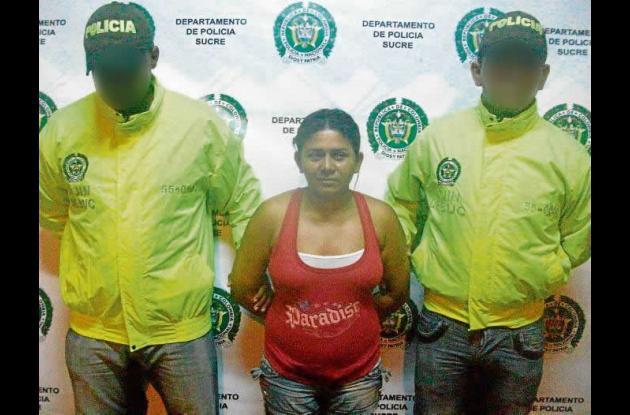 Sujeydy Ester Montes Salas, atrapada con droga.